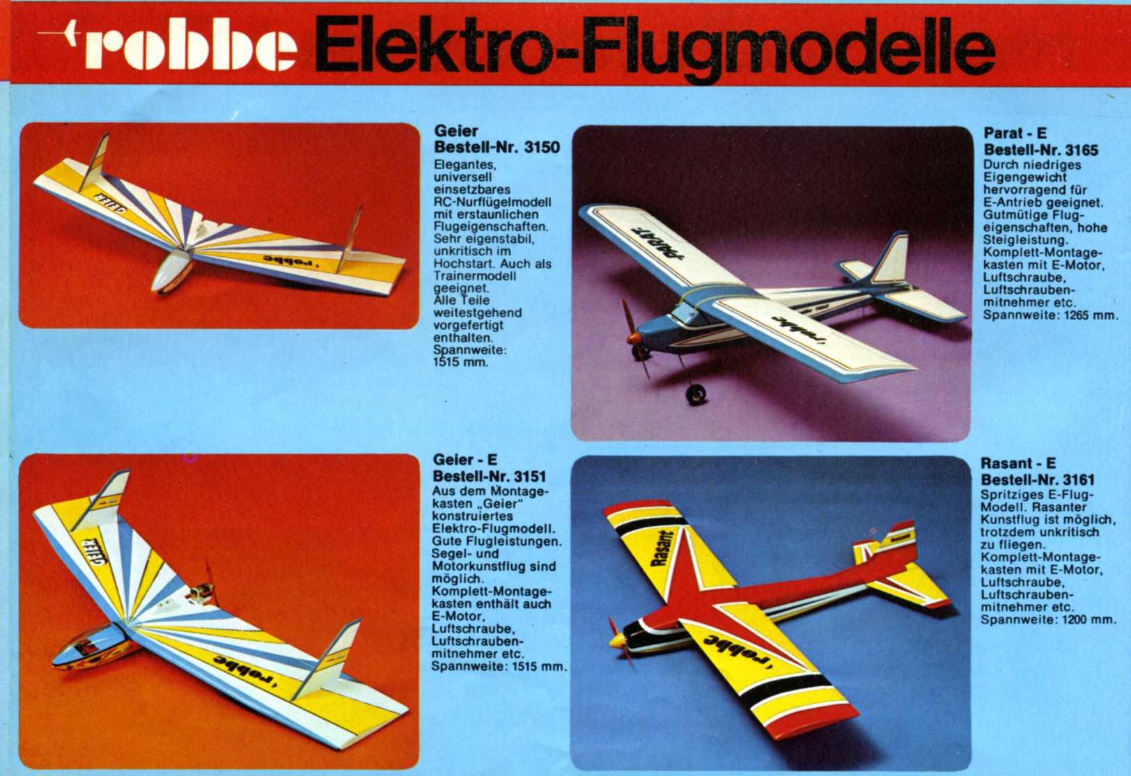Catalogue Robbe Des Années 70 Drones Technic